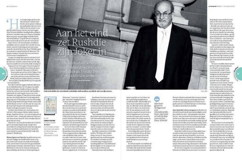 Athenaeum Boekhandel Salman Rushdie En Emily Ruskovich De