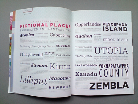 Uit Uppercase 10: An Abecedary of Fictional Places