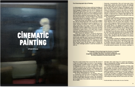 Uit Elephant Magazine: Cinematic Painting